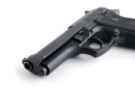 gun close up isolated photo