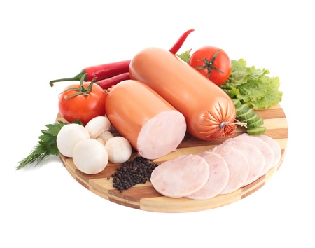 whitem: sausage with delicios composition