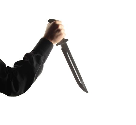 Man hold knife - aggression Stock Photo - 8915402