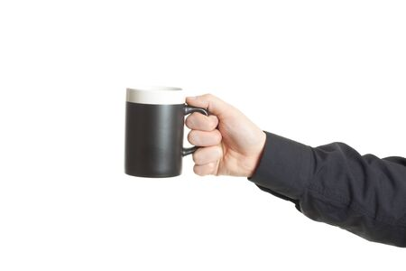 Businessman hand holding a cup of coffee Stock Photo - 9046440