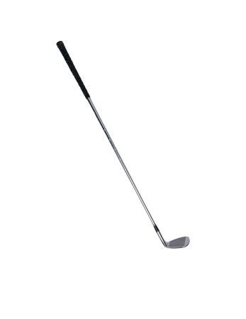 grip: Golf club isolated over a white background