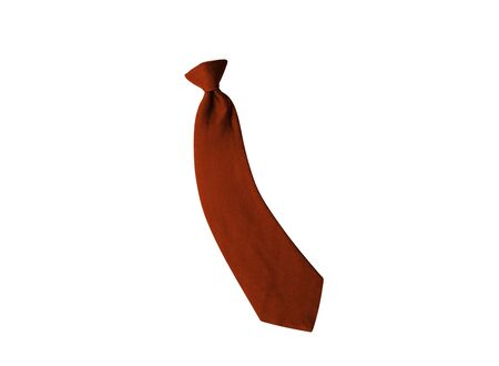 ironed: red tie isolated on white background