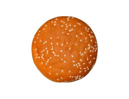 bollos: apetitoso bollo con s�samo aislado en blanco