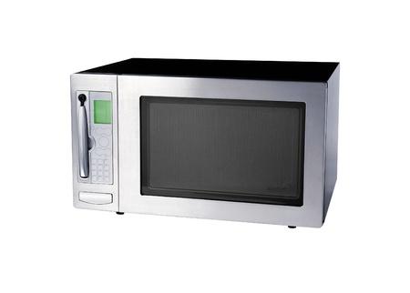 microwave oven: horno de microondas aislado en blanco