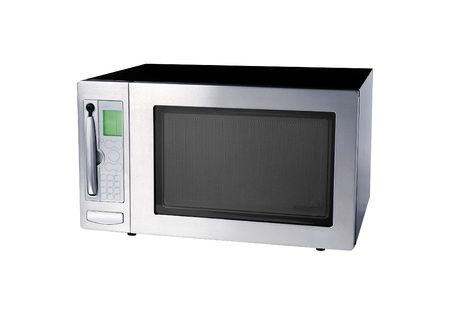 microwave oven: microwave oven isolated on white