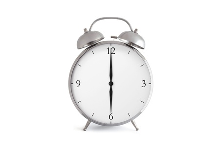 Alarm clock isolated on a white background photo
