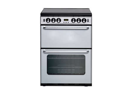white gas cooker over the white background photo