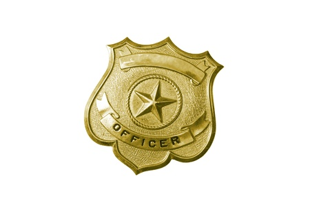 police golden badge photo