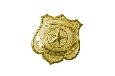 police golden badge Stock Photo - 9586903