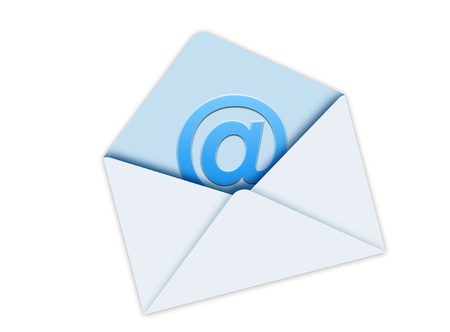 sobres para carta: Sobres de correo azul Foto de archivo