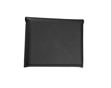 Black, leather, personal organizer on a white background photo