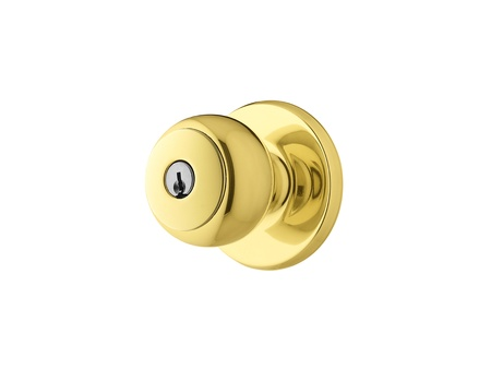antique keyhole: golden Door Knob