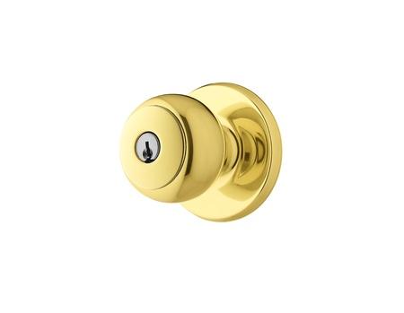 or lock up: Pomo de puerta dorada