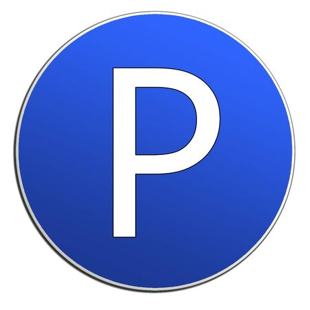safety circle: Illustration of cars parking sign