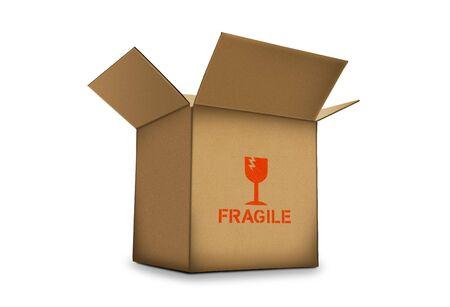 3d cardboard box photo