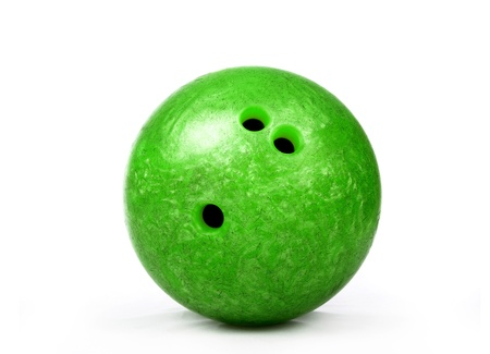 green bowling ball photo