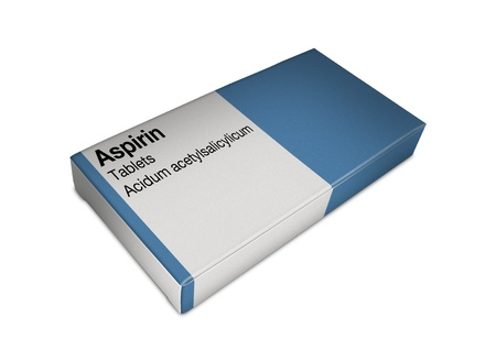 blister: Afbeelding van aspirine box