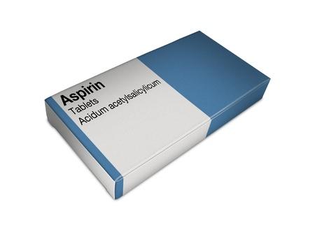 Image de la boîte d'aspirine Banque d'images - 9766751