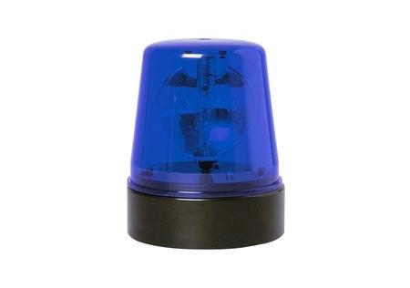 rotating: blue rotating beacon Stock Photo