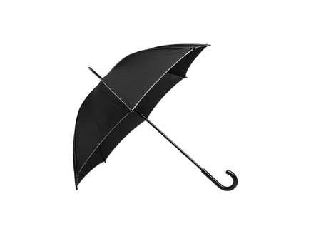 Black umbrella on white background Stock Photo - 9838484
