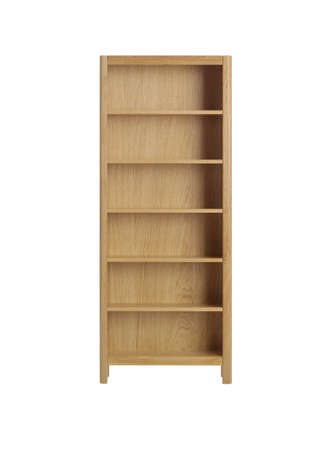 conjugation: Wooden bookcase isolated Stock Photo