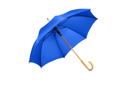 steel blue: Studio Shot of Classic Blue Umbrella Isolated on White