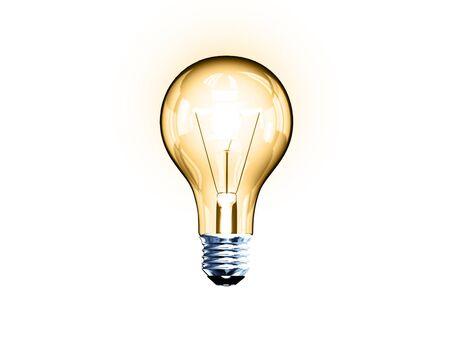 Light bulb, bitmap copy Stock Photo