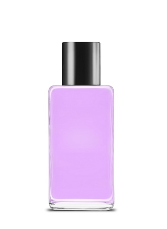 colored bottle: Bottle of perfume