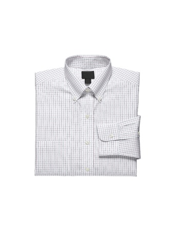 in men's shirt: A new white mans shirt isolated over a white background