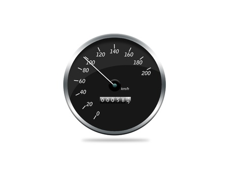 a speedometer showing movement photo