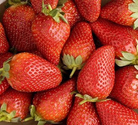 fraise: fra�che texture fraise, close up, arri�re-plan