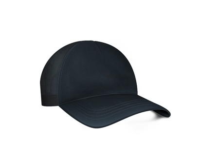 accesory: black cap with clipping path