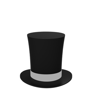 Black magic hat isolated on a white background photo