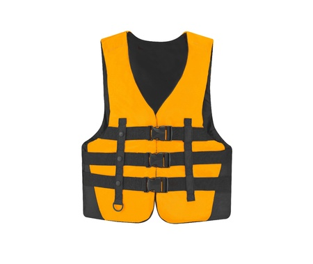 Orange vest isolated on the white background