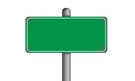 Blank Green Road Sign Isolated Stock Photo