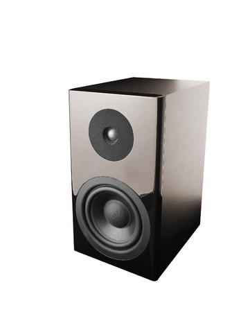 loud speakers: Great loud speakers. Isolated on white.
