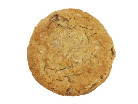 Chocolate Chip Cookie isolated with a clipping path photo