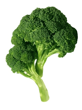 green cabbage: Fresh broccoli, isolated on white Stock Photo