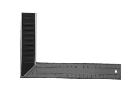 square ruler: Iron Ruler with angle bar