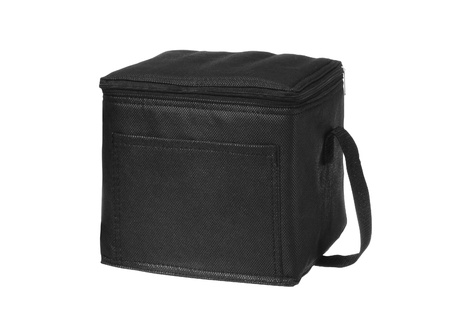 black lunch bag Stock Photo - 11377646