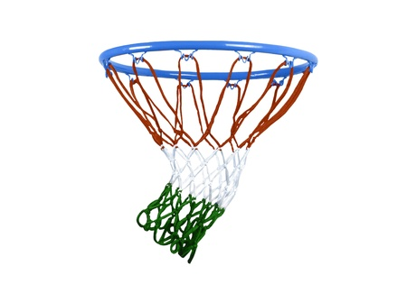 basketball hoop isolated on white. photo