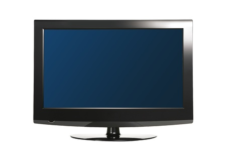 Computer monitor isolated on white background photo
