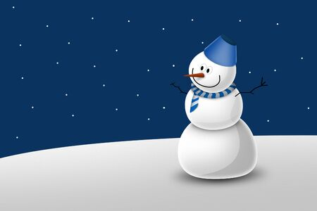 Snowman illustrations Stock Illustration - 11772504