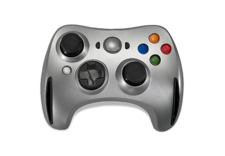 Wireless gamepad on white background. photo