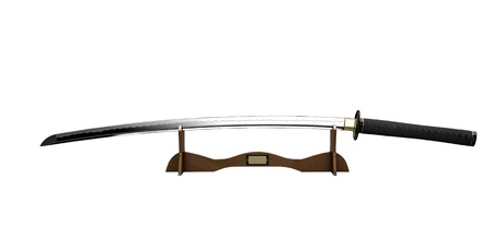 Samurai sword on a stand photo