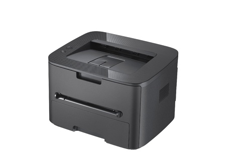 Laser printer on the white background photo