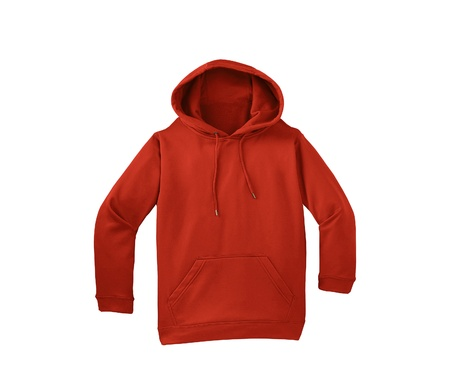 hoody: red sweater isolated on white background
