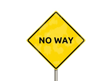 pointless: no way - sign isolated on white Stock Photo