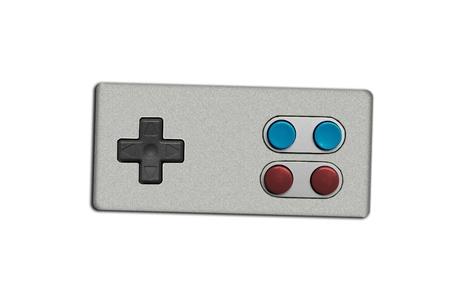 controller: retro game controller joystick isolated on white Stock Photo