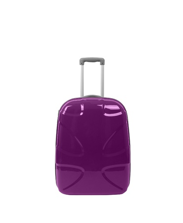luggage pieces: travel bag - isolated on white background.